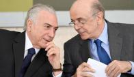Protagonistas: Temer y Serra en el centro de la escena política. Foto: EFE