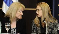 Cosse-Jara: ambas funcionarias lideran el proceso. Foto: Darwin Borrelli