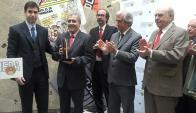 Daniel Dessein, Claudio Paolillo, Andrés Danza, Tabaré Vázquez y Julio María Sanguinetti.