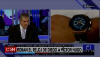 """Víctor Hugo Morales y el reloj que le regaló el """"10!"""