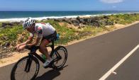 """A pedal. La competencia """"Ironman"""" incluye 10 kilómetros en bicicleta."""