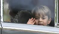 El príncipe Jorge lelga a la ceremonia. Foto: Reuters