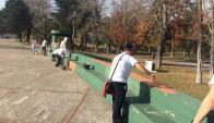 Minas: voluntarios pintaron la rambla del Parque Fabini. Foto: Manuel Rodríguez