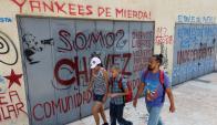 Pintada contra EEUU en la capital venezolana. Foto: Reuters