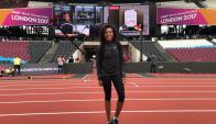 Deborah Rodríguez ya está en el estadio Olímpico de Londres. Foto: @deborahAthlete