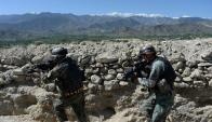 Según el gobierno de Afganistán, 36 yihadistas murieron por el ataque de EEUU. Foto: AFP