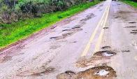 Ruta 26: El gobierno inició reparaciones de esa carretera. Foto: archivo El País