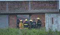 El local del incendio no contaba con habilitación de la Dirección Nacional de Bomberos. Foto: Gerardo Pérez.