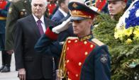 Michel Temer en su visita a Rusia. Foto: Efe.