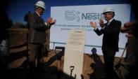Nestlé. El presidente Tabaré Vázquez participó del acto inaugural de las obras. (Foto: Fernando Ponzetto)