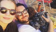Paoloski, Garciarena y el hijo de ambos, León. Foto: instagram.com/germanpaoloski
