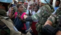 La misión en Haití ha sido fundamentalmente de trabajo y protección a los civiles. Foto: AFP