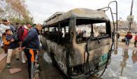 Así quedó el coche utilizado para el atentado en Bagdad. Foto: Reuters.