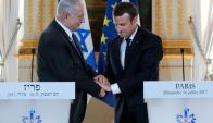 El primer ministro de Israel con Macron. Foto: Reuters