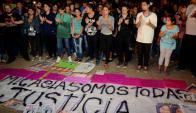 Ayer se hicieron varias marchas por el caso Micaela. Foto: EFE