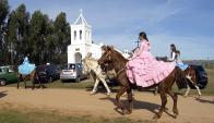 Desfile de caballería en Pueblo Edén, cuando cumplió 94 años. Foto: R. Figueredo