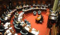 Igual que en Diputados, la oposición en el Senado votó dividida. Foto: F. Flores