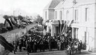 Inauguración del edifcio del Hospital Británico en Tres Cruces en 1913.