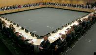 Ayer se firmó el convenio en París entre los 76 países y jurisdicciones participantes. Foto: OCDE
