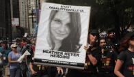 Manifestación en memoria de la mujer que murió atropellada por un supremacista. Foto: AFP.
