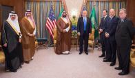 Donald Trump en visita oficial en Arabia Saudita. Foto: EFE
