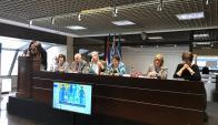 Presentación del informe sobre violencia hacia niños y niñas. Foto: Twitter @MSPUruguay