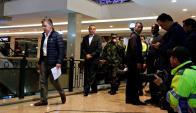 Santos concurrió el shopping que fue atacado. Foto: Reuters