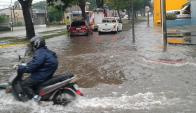 Lluvias intensas en Salto. Foto: Luis Pérez.