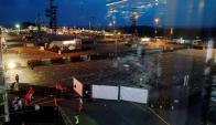 """El lugar fue evacuado luego de reportarse una """"amenaza terrorista"""". Foto: EFE"""