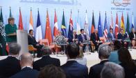 Los líderes mundiales del G20 reunidos en Alemania. Foto: Reuters