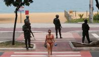 Vitoria: capital de Espíritu Santo, playas bajo custodia policial. Foto: Reuters