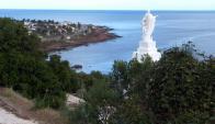 Virgen del Mar: instalada el la falda del cerro San Antonio de Piriápolis. Foto: R. Figueredo