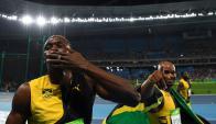 La última carrera de Usain Bolt en Río 2016: los 4x100 en los que se quedó con el oro. Foto: AFP