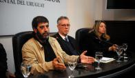 Fernando Pereira tras la reunión entre el Pit-Cnt, el Ministerio del Interior y el Sifpom. Foto: Fernando POnzetto.