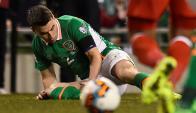Seamus Coleman sufrió una fractura de tibia y peroné. Foto: Reuters.
