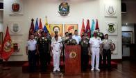 La cúpula de las FFAA de Venezuela divulgó un comunicado en apoyo al régimen. Foto: Reuters
