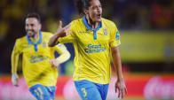 Mauricio Lemos se ha destacado en la Liga Española defendiendo a Las Palmas