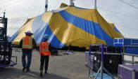 El Cirque du Soleil en Montevideo. Foto: Fernando Ponzetto