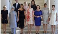 Las parejas de todos los presidentes de los Estados miembro de la OTAN. Foto: @domdelport
