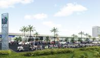 Servicios. El shopping desplegará una amplia oferta de servicios en la frontera, explicó Mendelsohn.