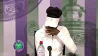 Venus Williams en la conferencia de prensa de Wimbledon. Foto: captura