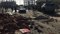 El primer ataque se produjo en Al Arish. Foto: EFE.