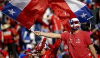 Los hinchas de Chile tendrán un recibimiento especial en la final de la Copa de las Confederaciones. Foto: EFE