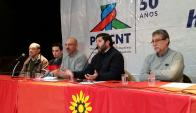 Conferencia de prensa Pit-Cnt. Foto: Ariel Colmegna