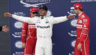 Lewis Hamilton logró la pole position en Gran Bretaña. Foto: EFE