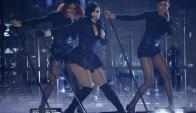 En el escenario, Lovato tiene mucha potencia, además de buenos vestuarios. Foto: Reuters.