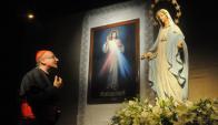 Sturla volvió a reivindicar el emplazamiento de una estatua de la virgen. Foto: A. Colmegna