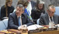 El Canciller Rodolfo Nin Novoa habló en el Consejo de Seguridad de ONU. EFE
