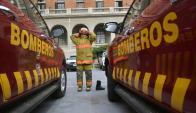 Bomberos trabajan día a día en decenas de episodios que no tienen que ver con los incendios, sino con rescates y aperturas de puerta. Foto: F. Ponzetto