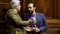 Mujica y Amado: ambos diputados aportaron sus votos para avanzar en la Rendición. Foto: M. Bonjour